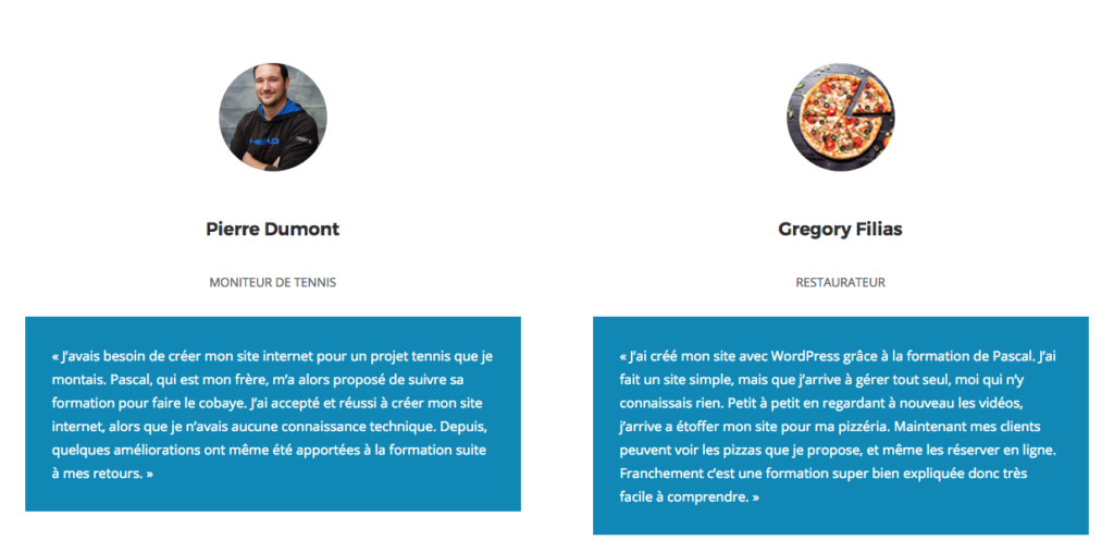 Formation WordPress entreprise temoignage